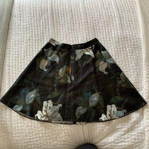 Club Monaco floral skirt
